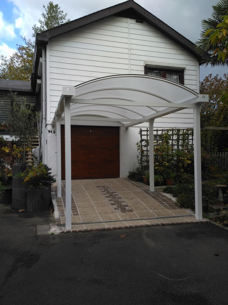 carport en aluminium laqu blanc ideal volet id al volet. Black Bedroom Furniture Sets. Home Design Ideas